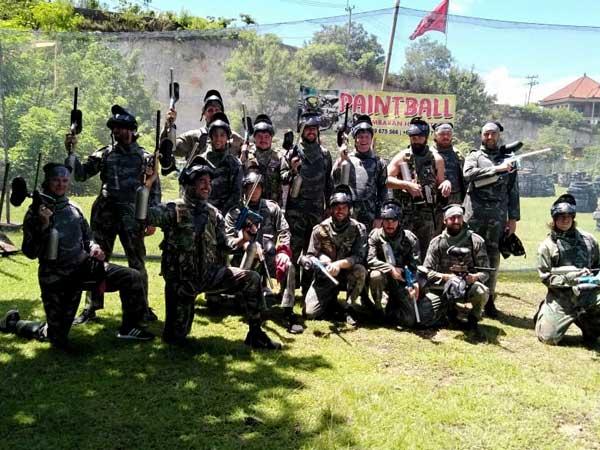 Group paintball at Jimbaran Bali