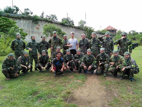 Corporate session paintball at Jimbaran Bali
