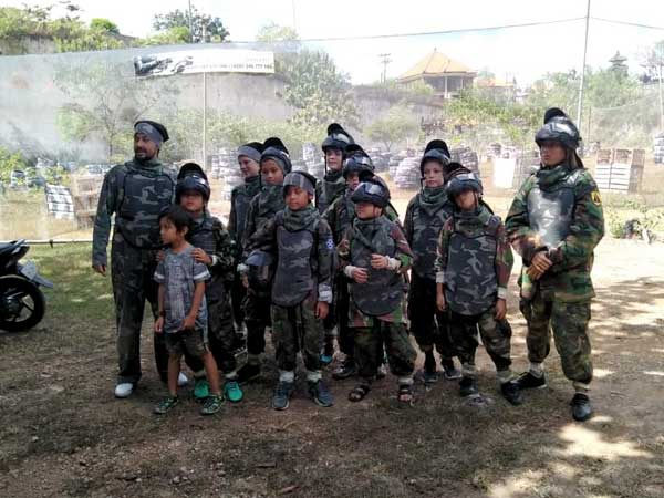 Kids paintball at Jimbaran Bali