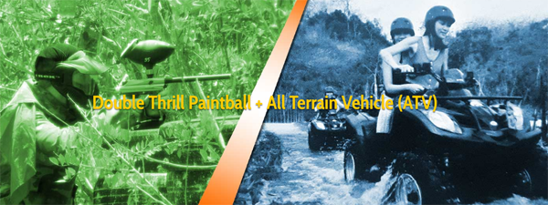 Combined activities paintball and ATV ride